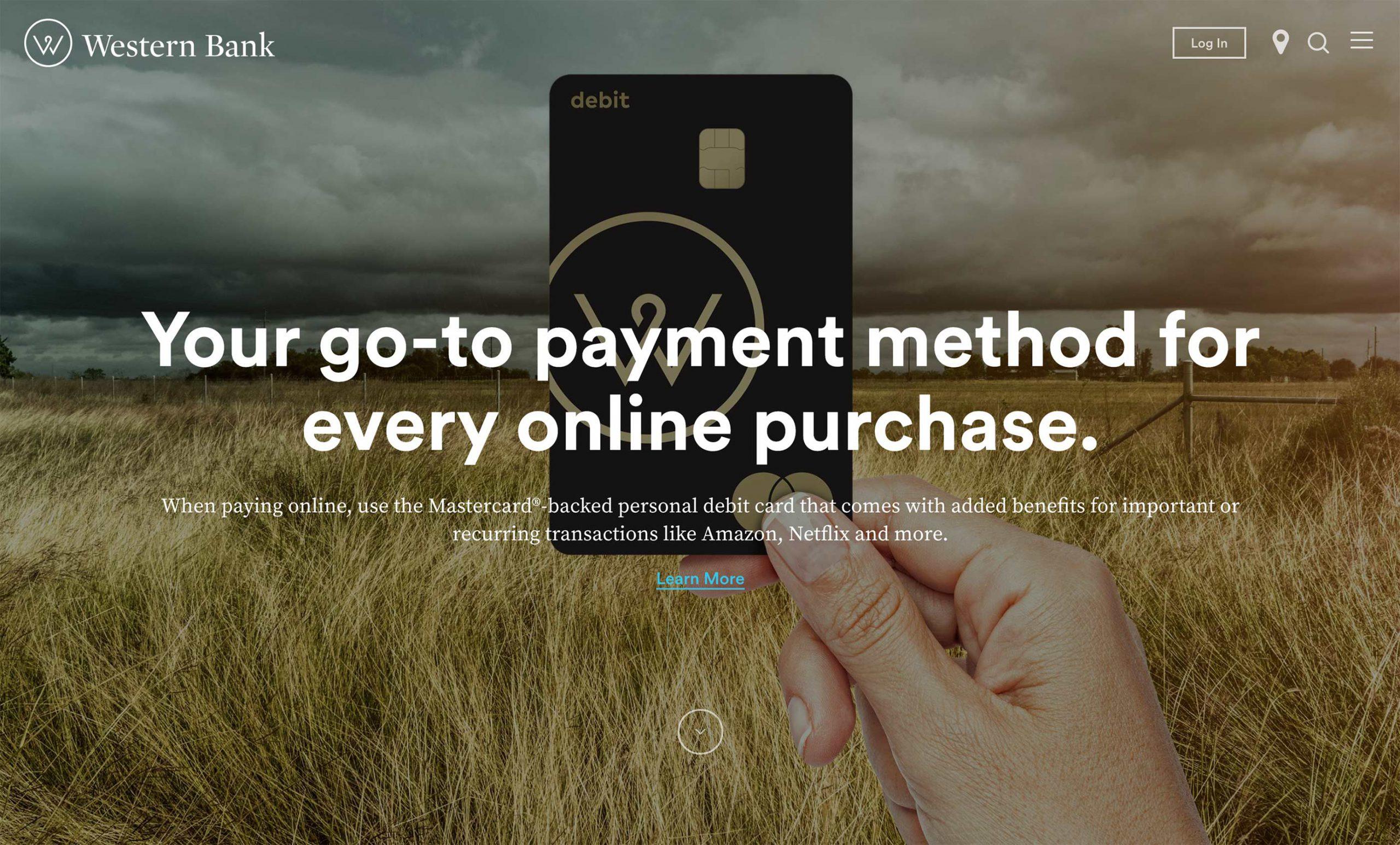 Western Bank Website Design
